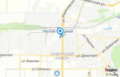 Местоположение на карте пункта техосмотра по адресу г Ростов-на-Дону, ул Малиновского, д 43
