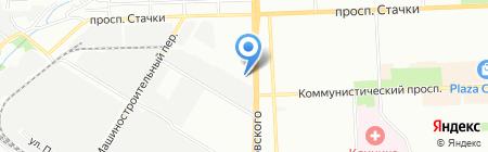 Меридиан на карте Ростова-на-Дону