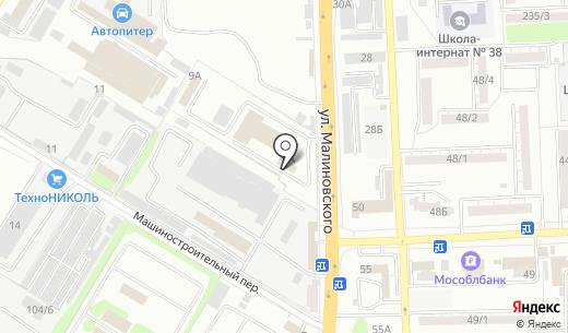 Донская парфюмерная компания. Схема проезда в Ростове-на-Дону