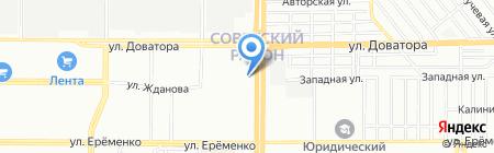 Магазин автотоваров на карте Ростова-на-Дону