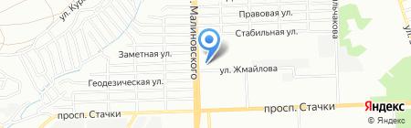 Банкомат ФОНДСЕРВИСБАНК на карте Ростова-на-Дону