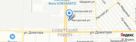 Кератон-Ростов на карте Ростова-на-Дону