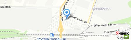 Энтророс на карте Ростова-на-Дону