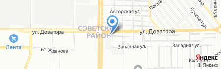 Кама-Юг на карте Ростова-на-Дону