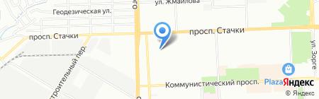 Школа-интернат №38 для слабовидящих детей на карте Ростова-на-Дону