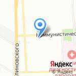 Тройка на карте Ростова-на-Дону