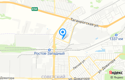 Местоположение на карте пункта техосмотра по адресу г Ростов-на-Дону, ул Факельная, д 11