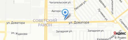 Гидросканд на карте Ростова-на-Дону