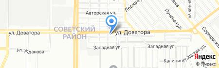 Автоштамп на карте Ростова-на-Дону