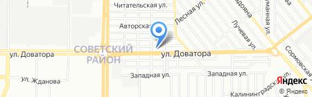 Керамос на карте Ростова-на-Дону