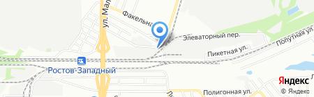 Маркон-холод на карте Ростова-на-Дону
