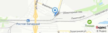 Вельтакс на карте Ростова-на-Дону