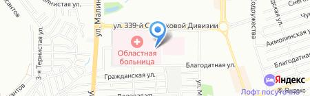 Ростовская областная клиническая больница на карте Ростова-на-Дону