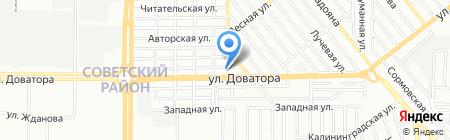 Автономка на карте Ростова-на-Дону