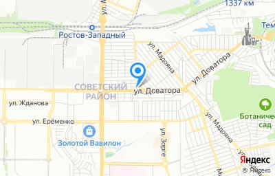 Местоположение на карте пункта техосмотра по адресу г Ростов-на-Дону, ул Буквенная, д 5