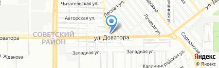 Шаровая молния на карте Ростова-на-Дону