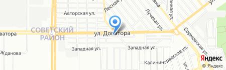 Кларте-Юг на карте Ростова-на-Дону