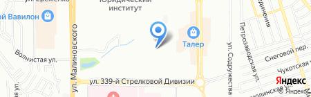 Детский сад №321 на карте Ростова-на-Дону