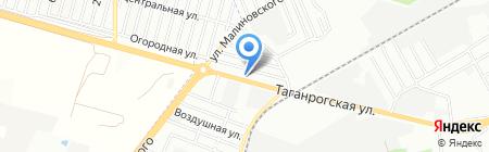 Дачное на карте Ростова-на-Дону