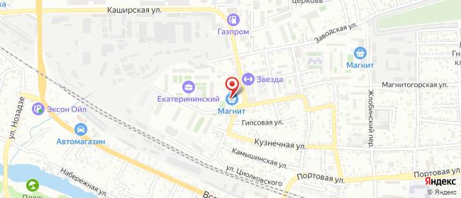 Карта расположения пункта доставки Ростов-на-Дону Магнитогорская в городе Ростов-на-Дону