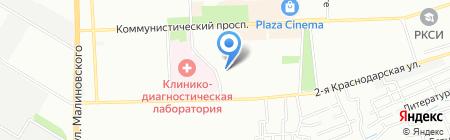 Средняя общеобразовательная школа №61 на карте Ростова-на-Дону