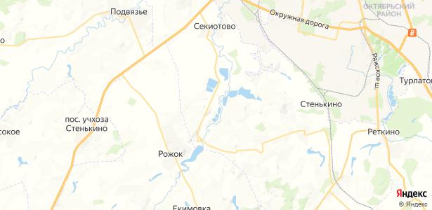 Серовское на карте