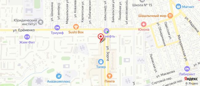 Карта расположения пункта доставки Ростов-на-Дону Зорге в городе Ростов-на-Дону