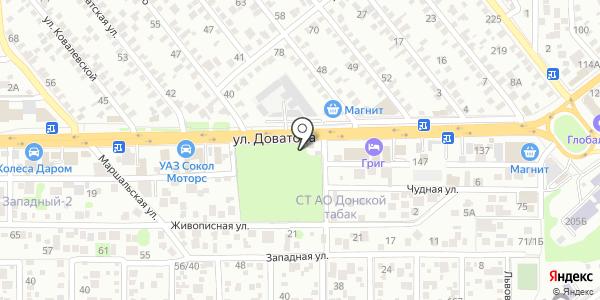 Автосервис. Схема проезда в Ростове-на-Дону