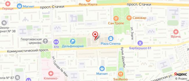 Карта расположения пункта доставки Халва в городе Ростов-на-Дону