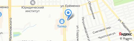 Прасковейский хуторок на карте Ростова-на-Дону