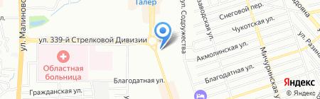 Сакура на карте Ростова-на-Дону