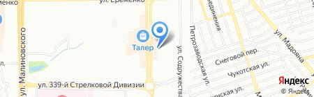 Торнадо на карте Ростова-на-Дону