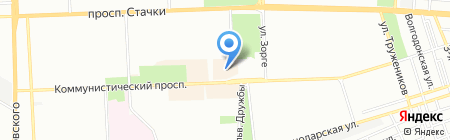 Квадрат на карте Ростова-на-Дону