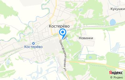 Местоположение на карте пункта техосмотра по адресу Владимирская обл, Петушинский р-н, г Костерево, ул Трансформаторная, д 3
