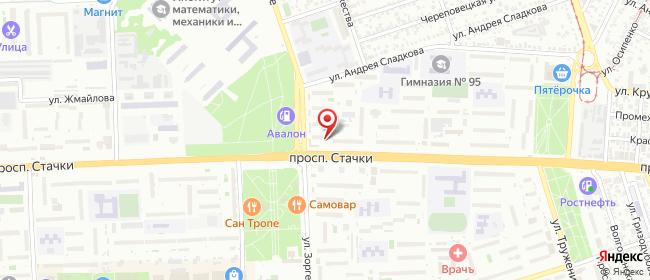 Карта расположения пункта доставки Lamoda/Pick-up в городе Ростов-на-Дону