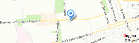 Кровля Ростова на карте Ростова-на-Дону