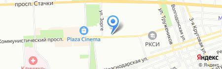 Обелиск на карте Ростова-на-Дону
