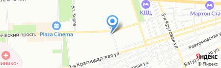Сеть аптек на карте Ростова-на-Дону