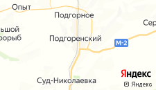 Гостиницы города Подгоренский на карте