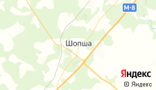 Гостиницы города Шопша на карте