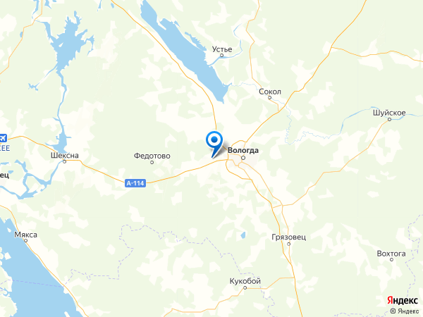 деревня Тимофеевское на карте