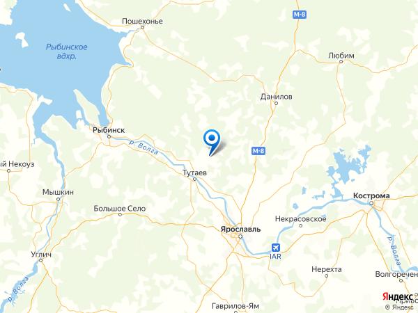село Благовещенье на карте