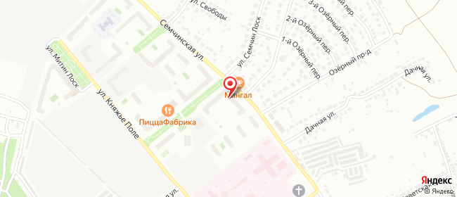 Карта расположения пункта доставки Рязань Семчинская в городе Рязань