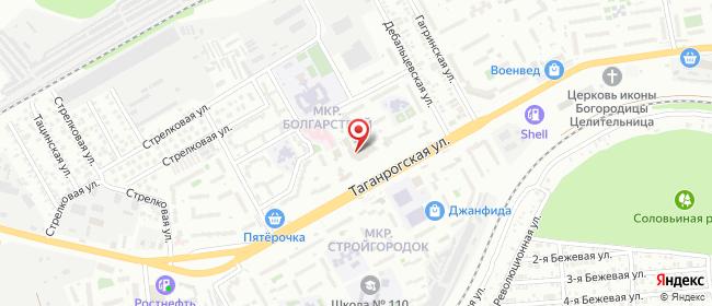 Карта расположения пункта доставки Ростов-на-Дону Таганрогская в городе Ростов-на-Дону