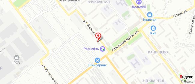 Карта расположения пункта доставки Рязань Бирюзова в городе Рязань