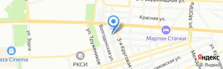 Детский сад №284 на карте Ростова-на-Дону