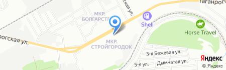 Московский Индустриальный банк на карте Ростова-на-Дону