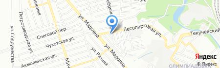 Караван на карте Ростова-на-Дону