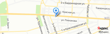 Двери и К на карте Ростова-на-Дону