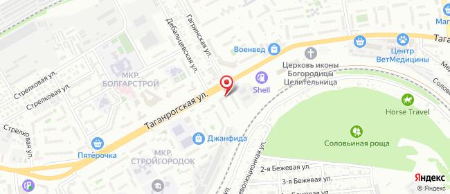 Карта расположения пункта доставки На Таганрогской в городе Ростов-на-Дону